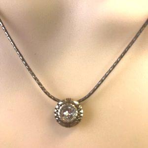 Original Brighton Necklace with Crystal Pendant